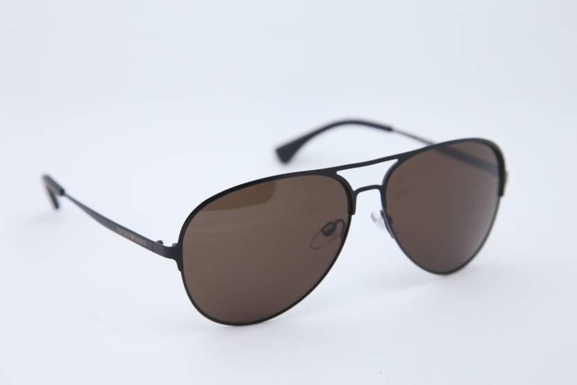 0a80e62a9449 Buy Emporio Armani Aviator Sunglasses Brown For Men   Women Online ...