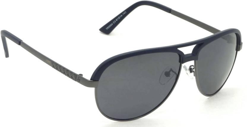 3de28d6db2 Buy I-Gogs Aviator Sunglasses Black For Men Online   Best Prices in ...