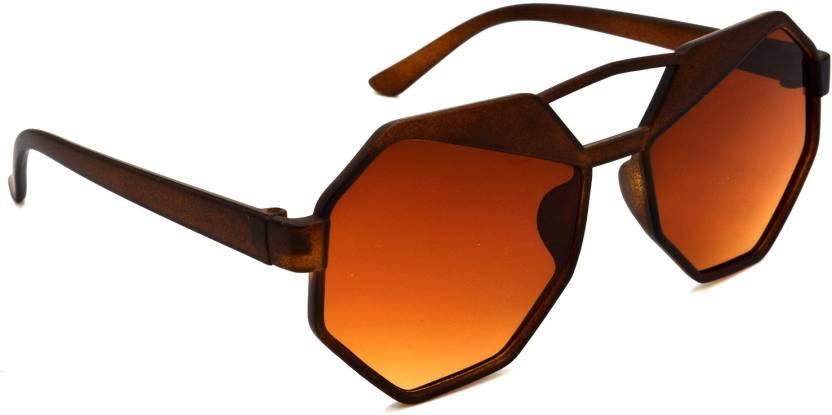 c373800f6c Buy Hrinkar Round Sunglasses Brown For Men   Women Online   Best ...