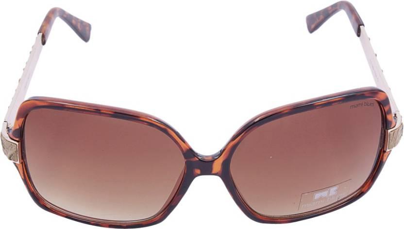 1b71e08750b Buy Miami Blues Round Sunglasses Brown For Women Online   Best ...