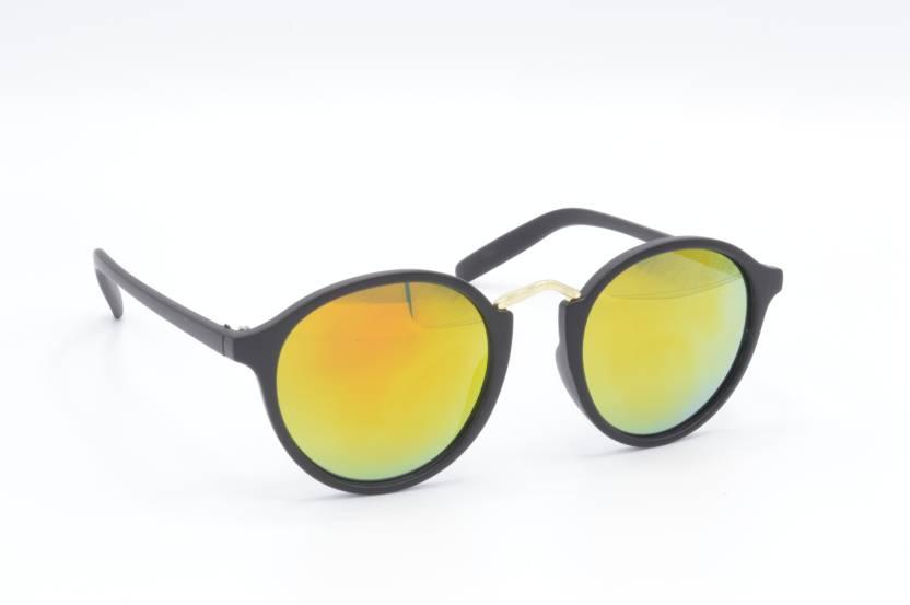 5966952c2d Buy Hrinkar Round Sunglasses Golden For Men   Women Online   Best ...