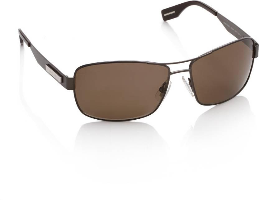 6be14d9e06 Buy Hugo Boss Rectangular Sunglasses Brown For Men Online   Best ...