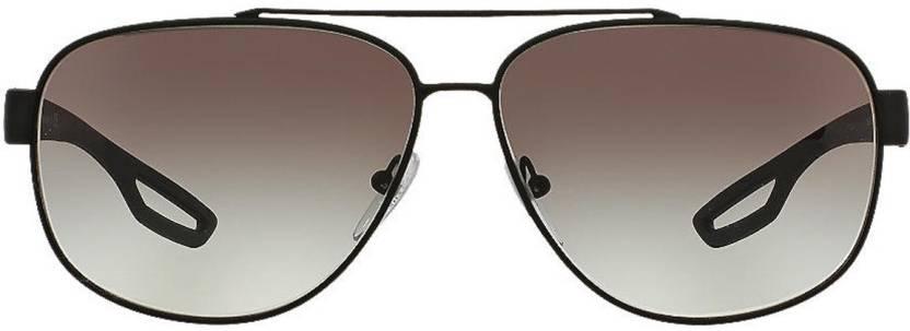 0adc3670009 Buy Prada Aviator Sunglasses Grey For Men Online   Best Prices in ...
