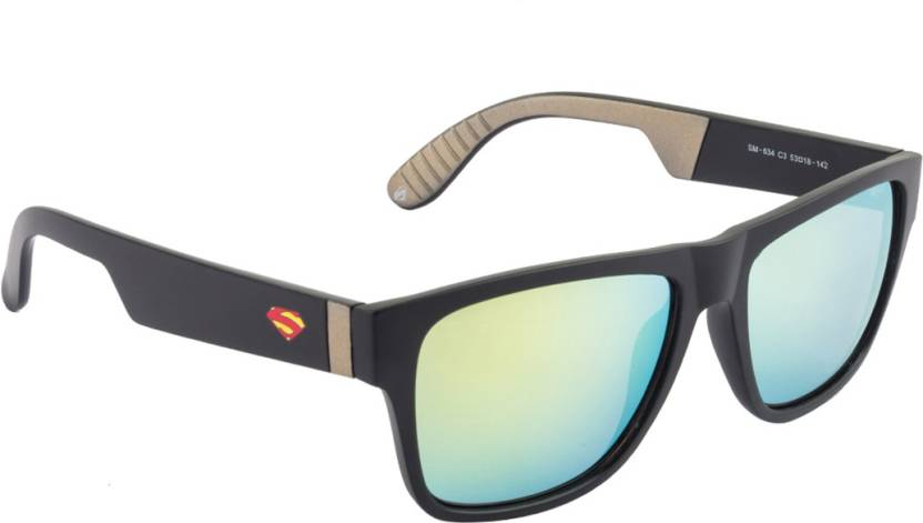f69cb630e43b Buy Superman Wayfarer Sunglasses Golden For Men & Women Online ...