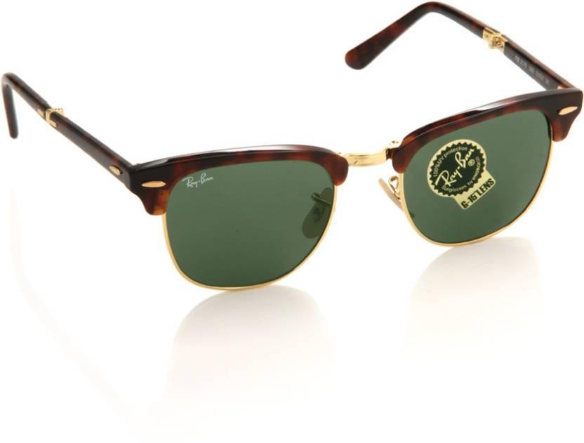 9bd3de926e Buy Ray-Ban Wayfarer Sunglasses Green For Men Online   Best Prices ...