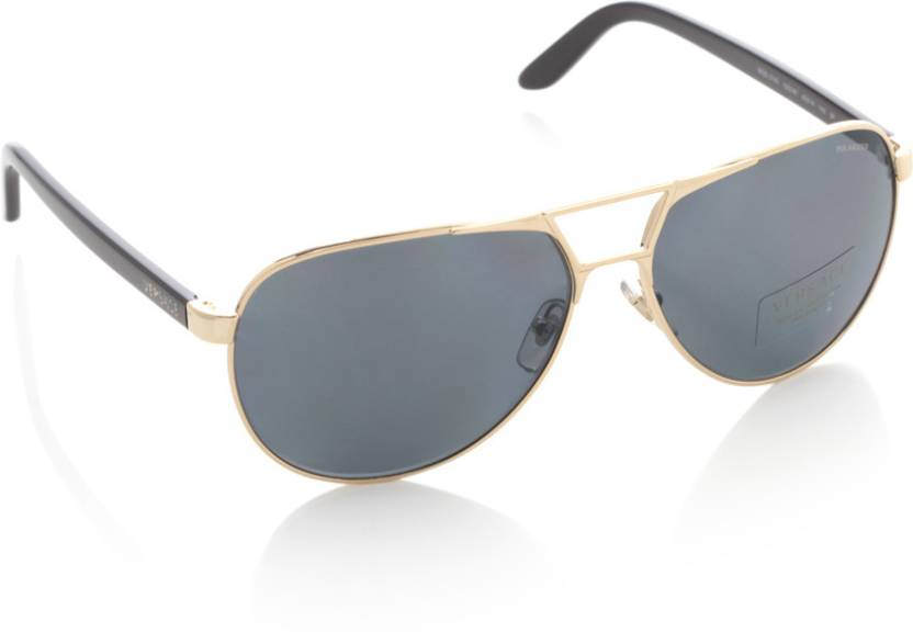 5bc2002cb1 Buy Versace Aviator Sunglasses Blue For Men Online   Best Prices in ...