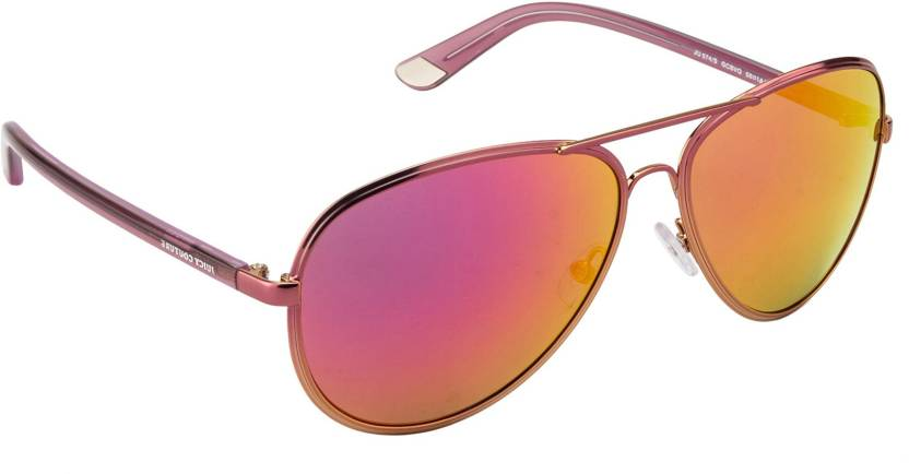 221fd393e3 Buy Juicy Couture Aviator Sunglasses Orange For Men   Women Online ...