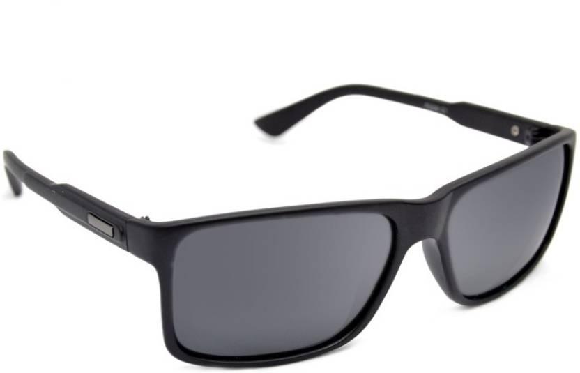 580670d354 Buy Macv Eyewear Rectangular Sunglasses Black For Men   Women Online ...