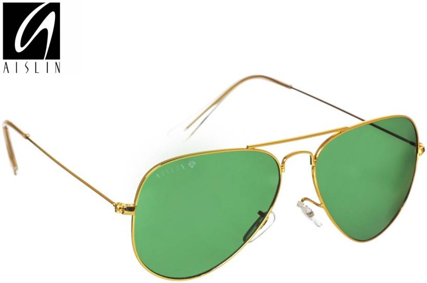 ace481f0c4043 Buy Aislin Aviator Sunglasses Green For Men   Women Online   Best ...