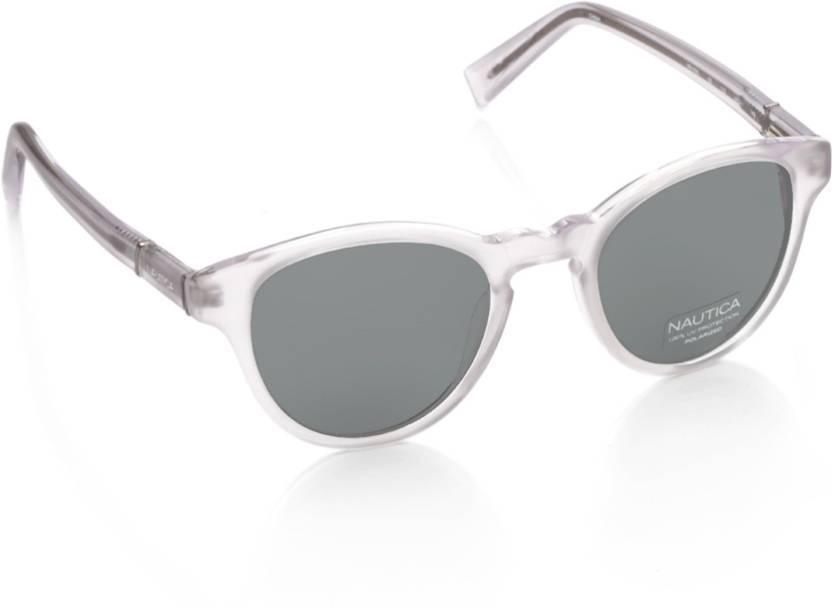 c2283ec72a Buy Nautica Round Sunglasses Grey For Men Online   Best Prices in ...
