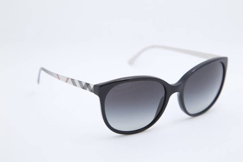 83fe7a90e6 Buy Burberry Cat-eye Sunglasses Black For Men   Women Online   Best ...