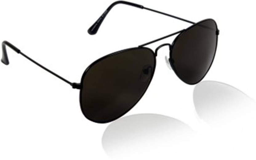 e288324ff5ed Buy Younky Aviator Sunglasses Black For Men Online   Best Prices in ...