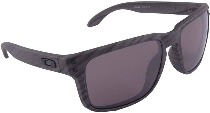 af8656f7f49 Buy Oakley HOLBROOK Wayfarer Sunglass Grey For Men Online   Best ...