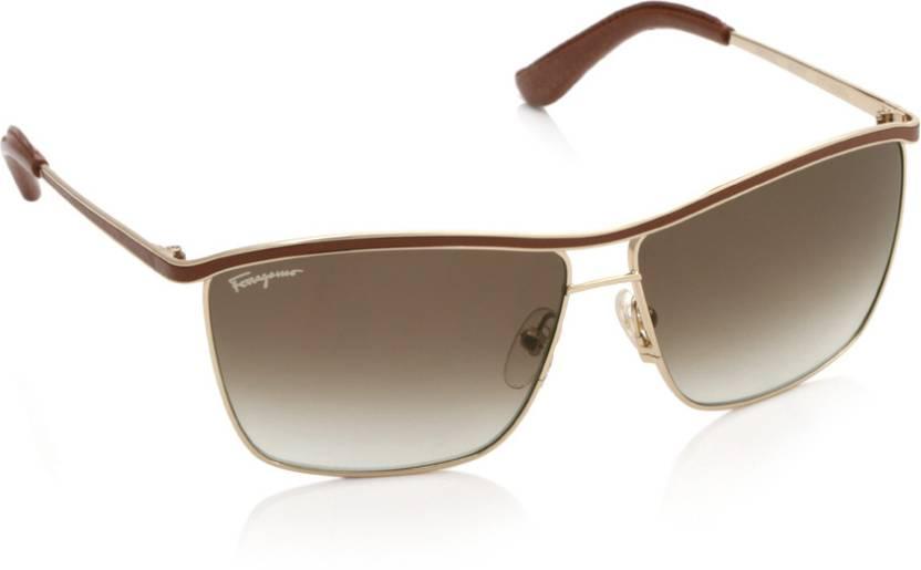 398c9285ed0 Buy Salvatore Ferragamo Wayfarer Sunglasses Brown For Men Online ...