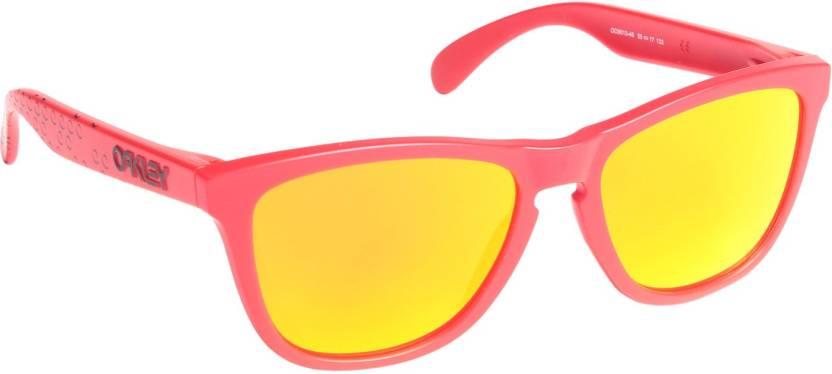 287dfce7b2 Buy Oakley FROGSKINS Wayfarer Sunglass Orange For Men   Women Online ...