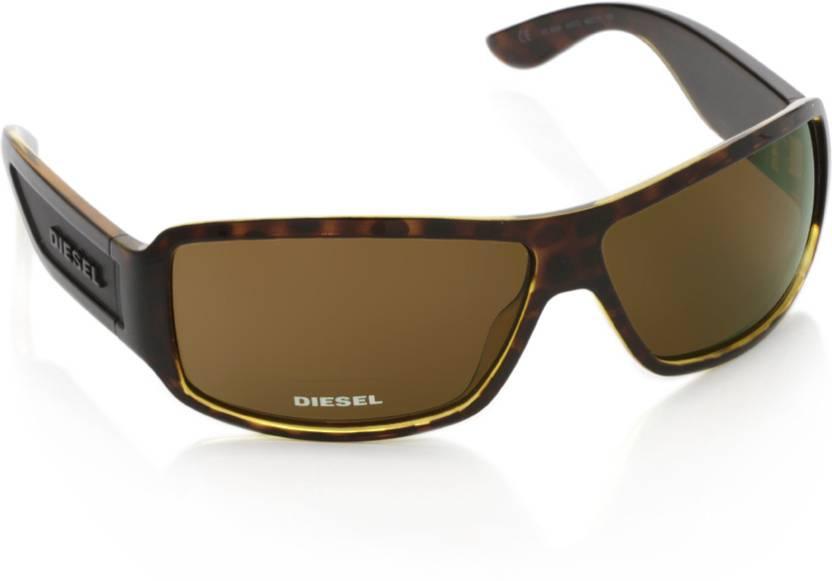 e3b82380c5 Buy Diesel Round Sunglasses Brown For Men   Women Online   Best ...