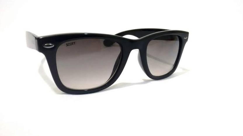 71171ab00a Buy Scott Wayfarer Sunglasses Black For Men Online   Best Prices in ...