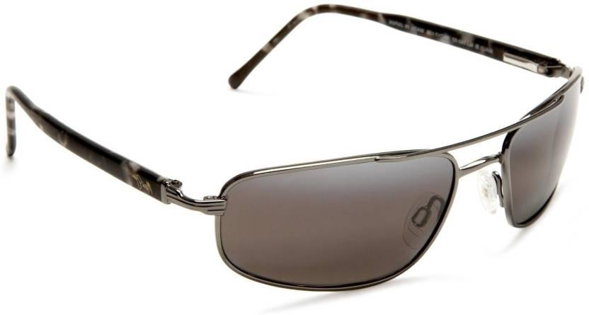 44694bc3d5d Buy Maui Jim Rectangular Sunglasses Grey For Men   Women Online ...