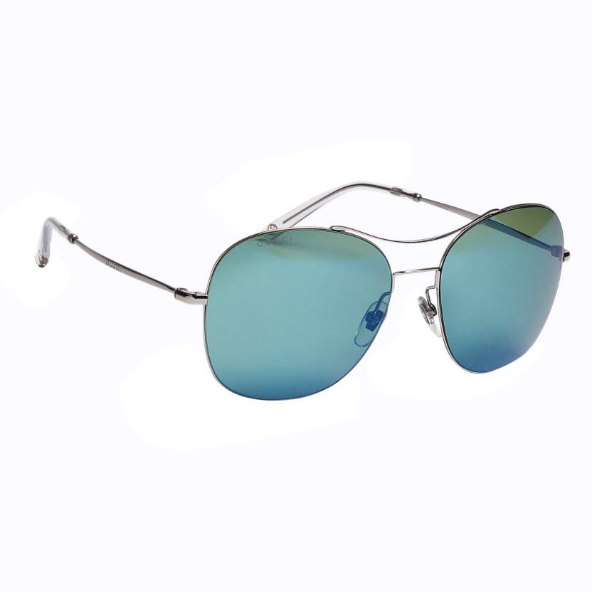 779fef041e7 Buy GUCCI Aviator Sunglasses Green For Men Online   Best Prices in ...