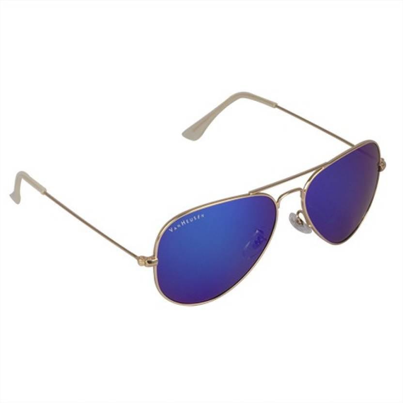 b2f5e7d59a29 Buy Van Heusen Aviator Sunglasses Blue For Men & Women Online @ Best ...