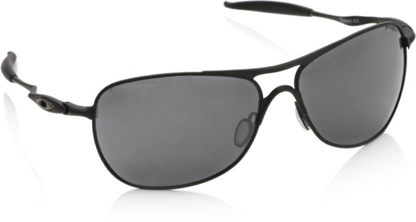 50a585ef15 Buy Oakley CROSSHAIR Oval Sunglass Black For Men Online   Best ...