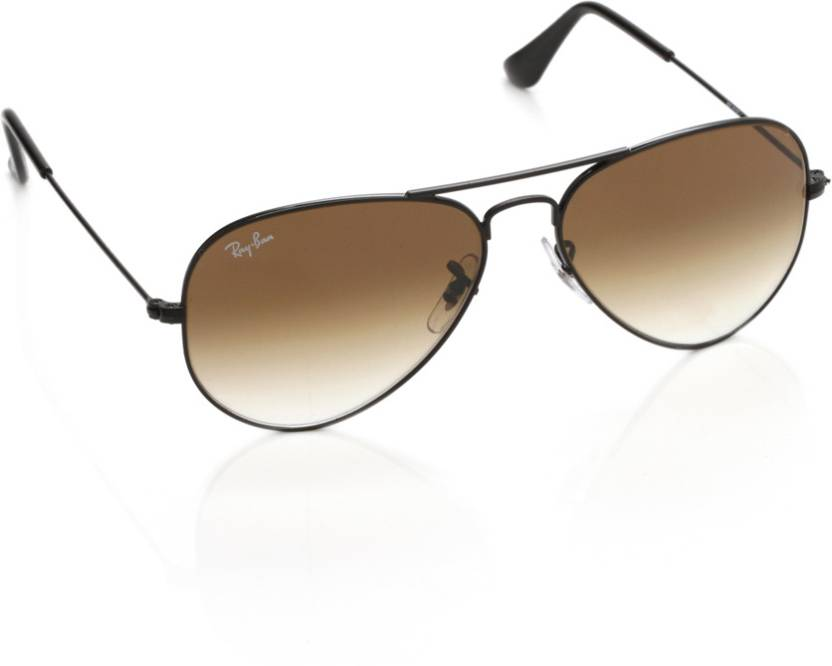 4d990fe3509d Buy Ray-Ban Aviator Sunglasses Brown For Men Online @ Best Prices in ...