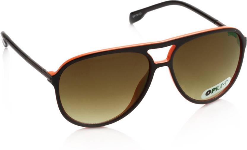 db6d50d5dc Buy Opium Aviator Sunglasses Brown For Men & Women Online @ Best ...