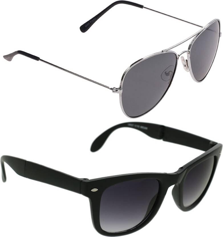 39ad961fa80e Buy Vast Wayfarer Sunglasses Grey For Men   Women Online   Best ...