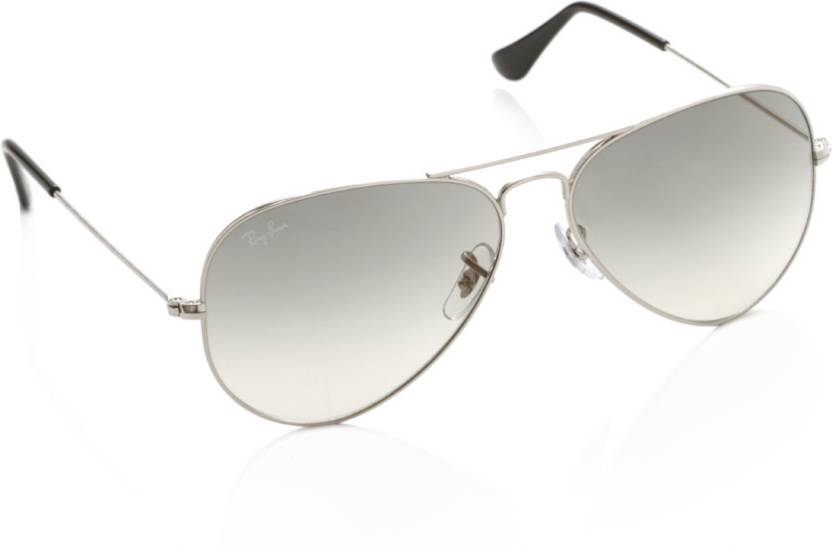 b0c4d04ab1c9f Buy Ray-Ban Aviator Sunglasses Grey For Men Online   Best Prices in ...