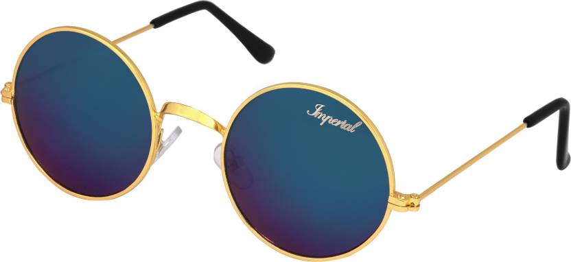 13d7411a8b Buy Imperial Club Round Sunglasses Blue For Men   Women Online ...