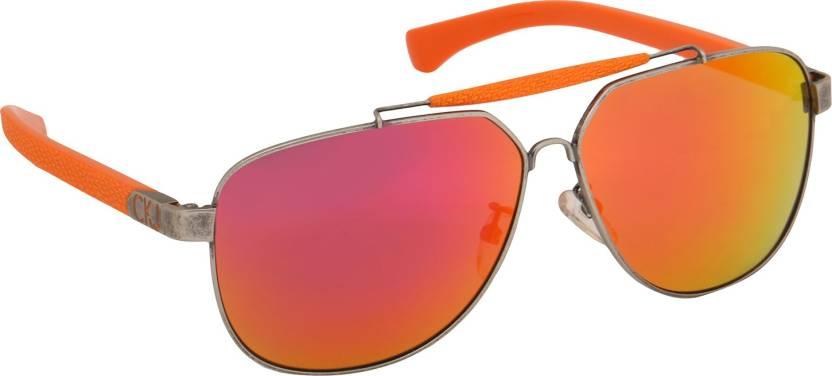 62e8c35e3b3df Buy Calvin Klein Aviator Sunglasses Multicolor For Men Online   Best ...