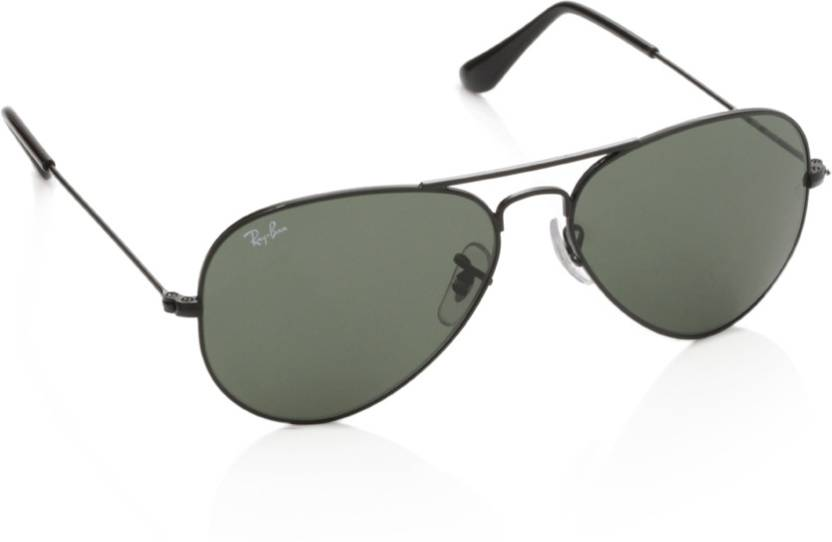 4f65e256d874 Buy Ray-Ban Aviator Sunglasses Green For Men Online   Best Prices in ...