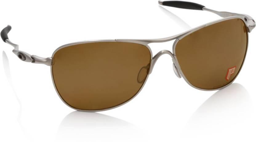 cbf31634185 Buy Oakley TITANIUM CROSSHAIR Aviator Sunglass Brown For Men Online ...
