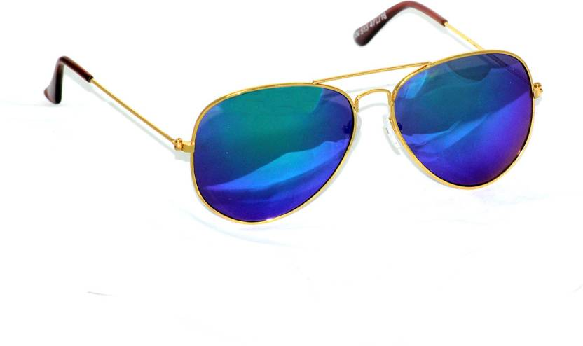 bc2177fa708 Buy Black Aviator Sunglasses Blue For Men Online   Best Prices in ...