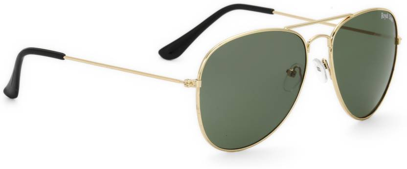 Royal Son Aviator Sunglasses  (Green)