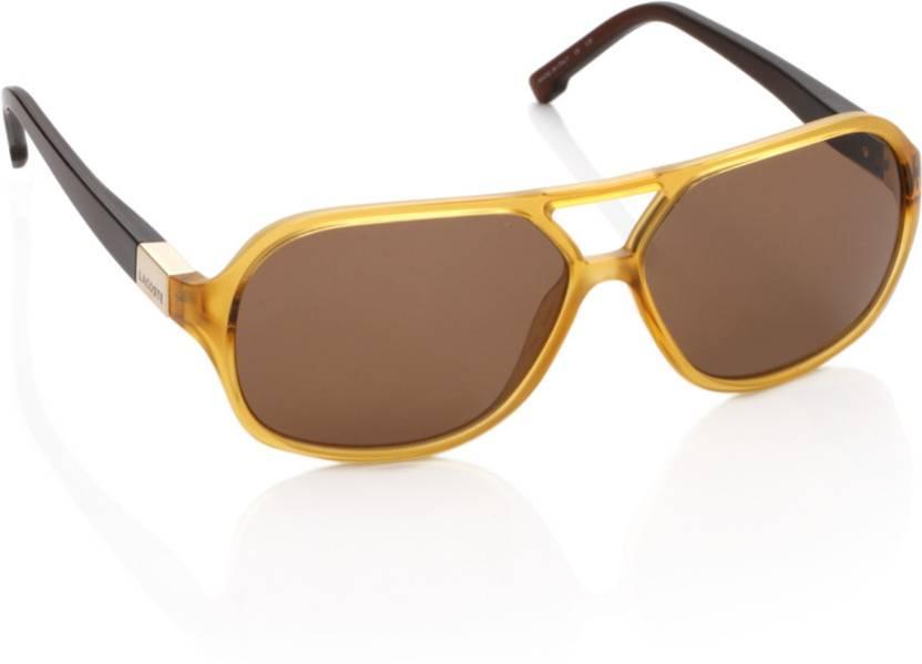 1161e4d29b Buy Lacoste Rectangular Sunglasses Brown For Men   Women Online ...