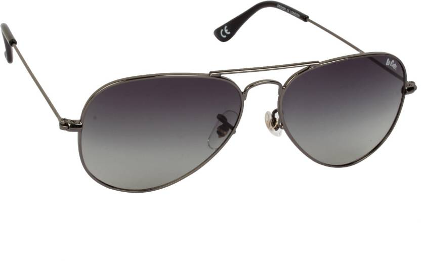4c4f1276420bb Buy Lee Cooper Aviator Sunglasses Grey For Men   Women Online   Best ...