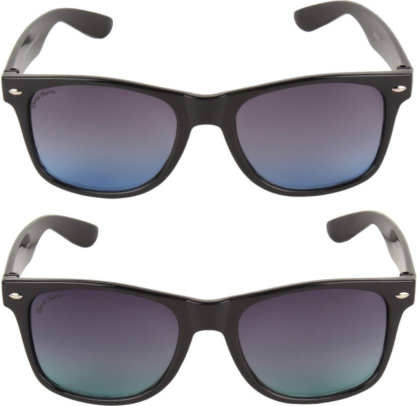 5ccfc99b5a8ac Buy David Martin Wayfarer Sunglasses Grey