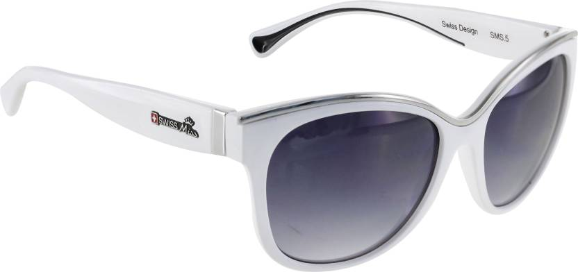 618de0baac5 Buy Swiss Miss Cat-eye Sunglasses Grey For Women Online   Best ...