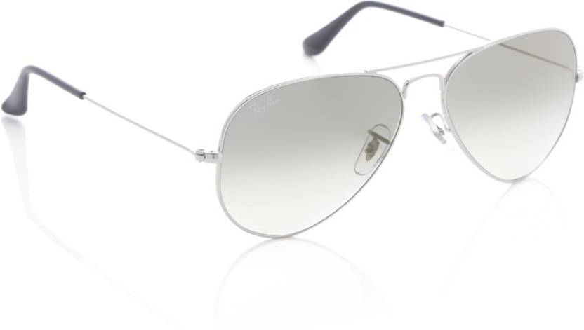 2a4e902bcf Buy Ray-Ban Aviator Sunglasses Grey For Men Online   Best Prices in ...