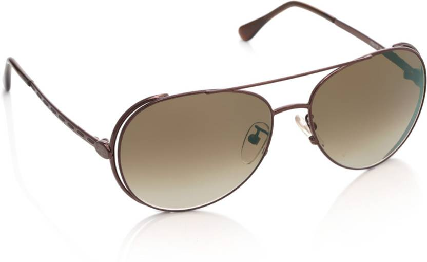 e0a7a9e7541 Buy Fendi Aviator Sunglasses Brown For Men   Women Online   Best ...