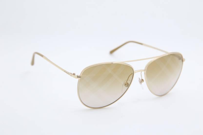 559c1424f1b Buy Burberry Aviator Sunglasses Brown For Men   Women Online   Best ...