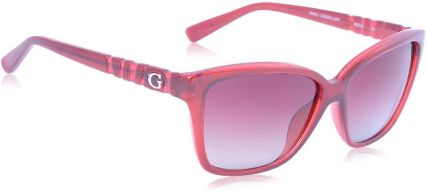 223f8eb225387 Buy Guess Wayfarer Sunglasses Violet For Women Online   Best Prices ...