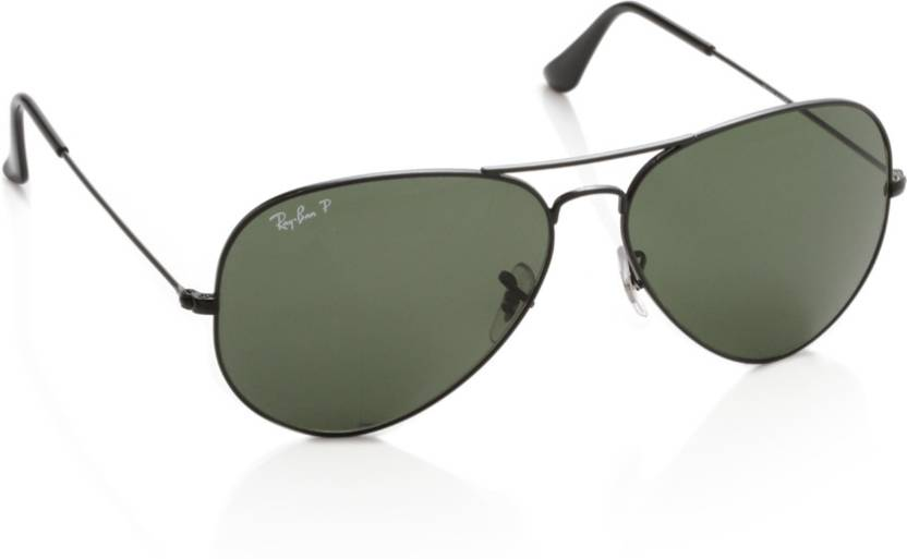 817922fa6a4f Buy Ray-Ban Aviator Sunglasses Green For Men Online   Best Prices in ...