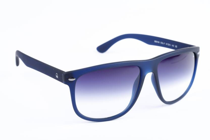 Buy United Colors of Benetton Wayfarer Sunglasses Blue For Men ...