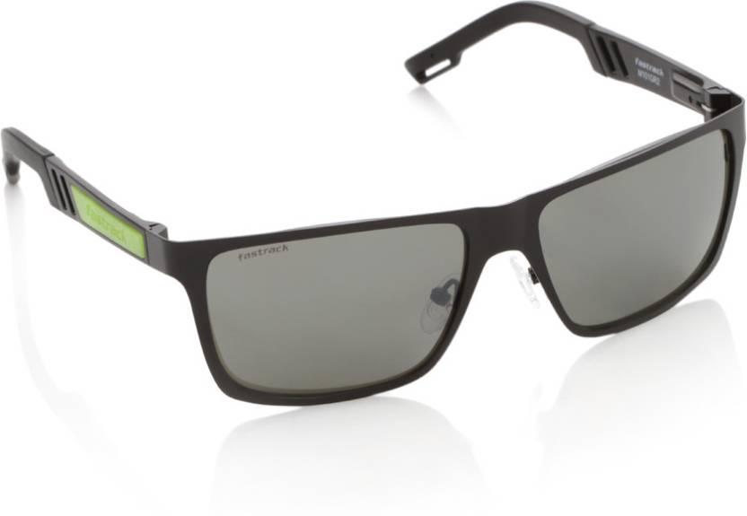 ce74b67835 Buy Fastrack Rectangular Sunglasses Grey For Men Online   Best ...
