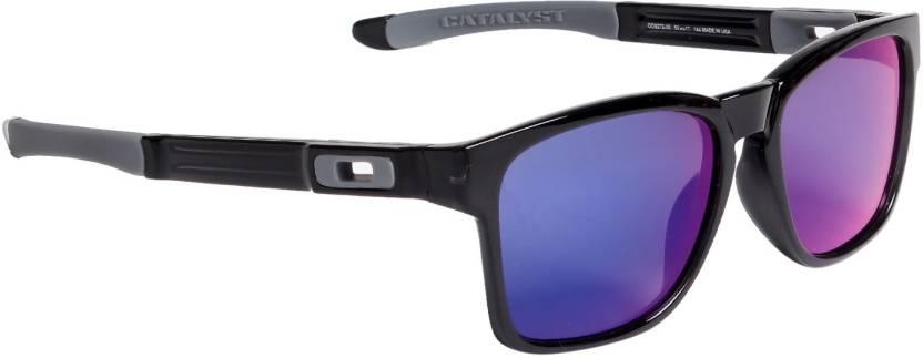 28471772f3 Buy Oakley TRILLBE X Wayfarer Sunglass Blue For Men Online   Best ...