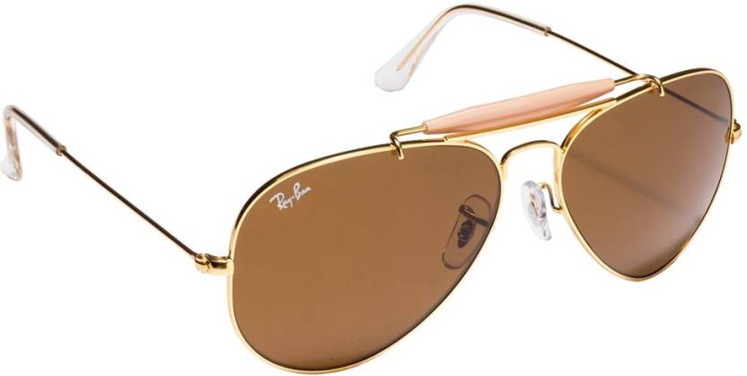 cdc09283e00 Buy Ray-Ban Aviator Sunglasses Brown For Men Online   Best Prices in ...