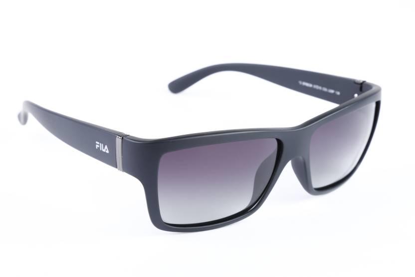 3d66367b5d0 Buy Fila Wayfarer Sunglasses Black For Men Online   Best Prices in ...