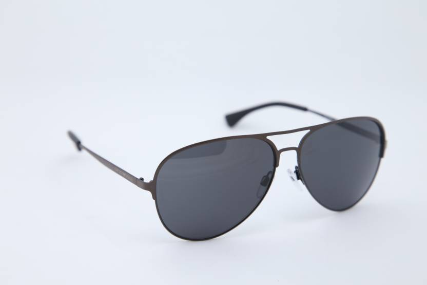 25941da6ad01 Buy Emporio Armani Aviator Sunglasses Grey For Men   Women Online ...
